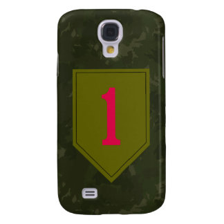 """1st Infantry Division """"The Big Red One"""" WW II Camo Galaxy S4 Case"""