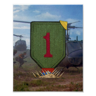 1st Infantry Division Vietnam War Patch Print