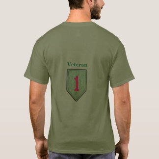 1st Infantry ID Big Red 1 Veterans Vets Patch T-Shirt