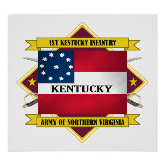 1st Kentucky Infantry (flags3) Poster