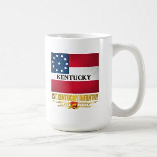 1st Kentucky Infantry Basic White Mug
