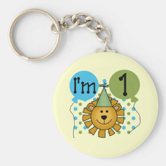 1st Lion Birthday Tshirts and Gifts Basic Round Button Key Ring