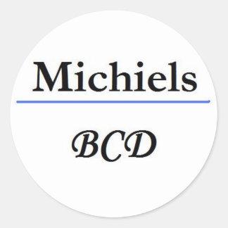 1st logo name round sticker