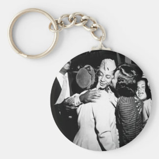 1st Lt. Alvin Anderson_War Image Basic Round Button Key Ring