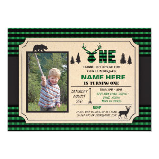 1st Lumberjack One Birthday Invite Check Invite