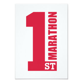 1st Marathon 9 Cm X 13 Cm Invitation Card