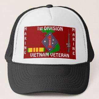 1st Marine Div Vietnam 1/r Trucker Hat