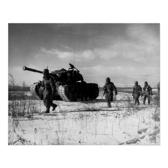 1st Marine Division Moving Through The Chosin Poster