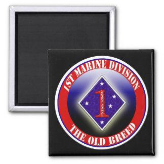 1st Marine Division Square Magnet