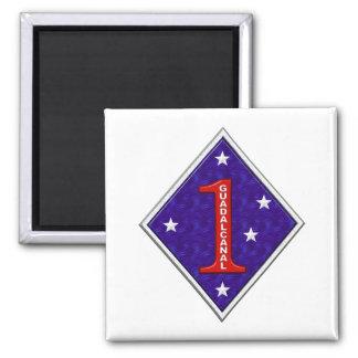 1st Marine Square Magnet