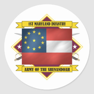 1st Maryland Infantry Classic Round Sticker