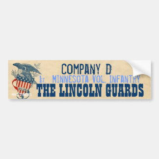 1st Minnesota Vol. Infantry Company D Bumper Sticker