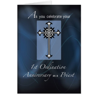 1st Ordination Anniversary of Priest Card