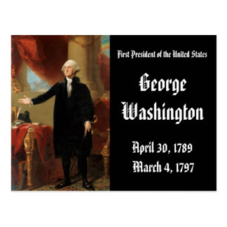 1st President Of the United States George Washingt Postcard