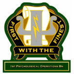 1st Psychological Operations Battalion DUI Cut Outs