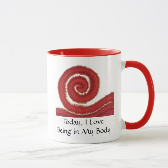 1st-Root Chakra Artwork #1-I Love Being in My Body Mug
