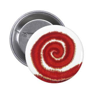 1st-Root Chakra Red Spiral Artwork #1 6 Cm Round Badge