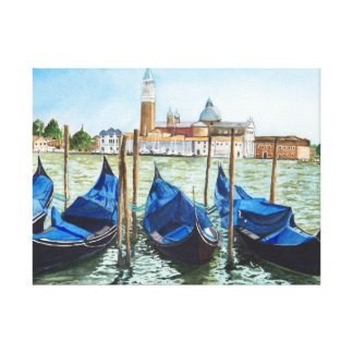 1st sight of Venice Stretched Canvas Prints