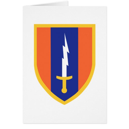 1st Signal Brigade Insignia Greeting Card