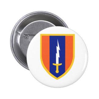 1st Signal Brigade Insignia Pinback Buttons