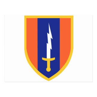1st Signal Brigade Insignia Postcard