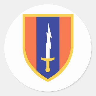 1st Signal Brigade Insignia Round Sticker
