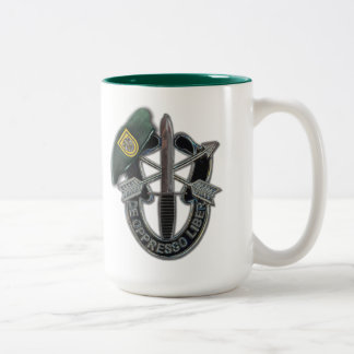 1st Special forces green berets veterans vets Two-Tone Coffee Mug