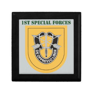 1st Special Forces Group With Text Small Square Gift Box