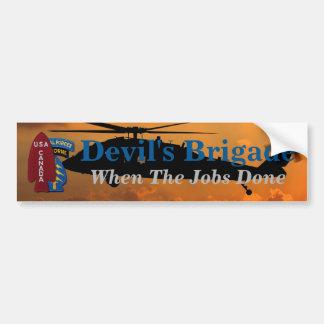 1st Special Service Force SSF Devil's Brigade Bumper Sticker