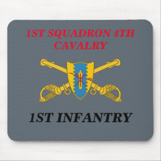 1ST SQUADRON 4TH CAVALRY 1ST INFANTRY MOUSEPAD