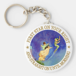 1ST STAR ON YOUR RIGHT, STRAIGHT ON UNTIL MORNING KEY RING