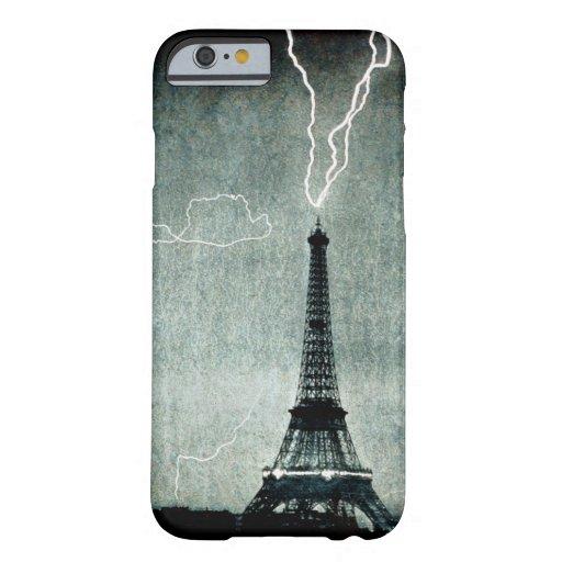 1st Strike - Lightning hits Eiffel Tower 1902 iPhone 6 Case