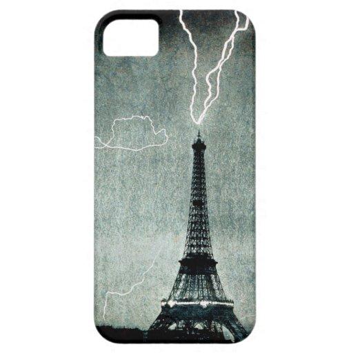 1st Strike - Lightning hits Eiffel Tower 1902 iPhone 5 Cases