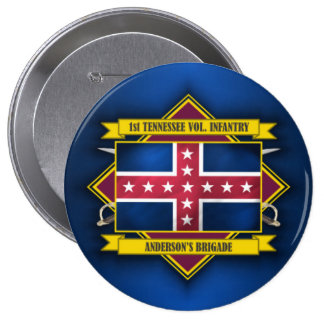 1st Tennessee Infantry 10 Cm Round Badge