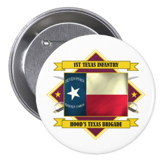 1st Texas Infantry (Flags 3) 7.5 Cm Round Badge