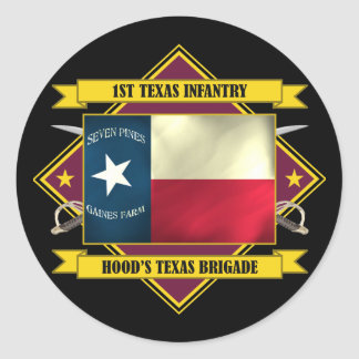 1st Texas Infantry (Flags 3) Stickers