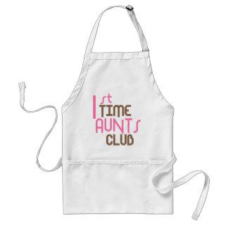 1st Time Aunts Club (Pink) Apron