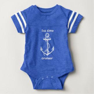 1st Time Cruiser Anchor Design Baby Bodysuit