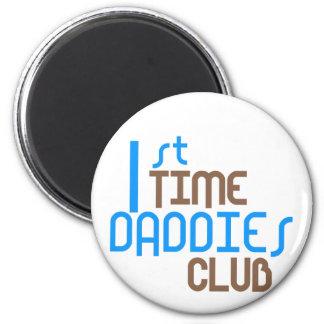 1st Time Daddies Club (Blue) 6 Cm Round Magnet
