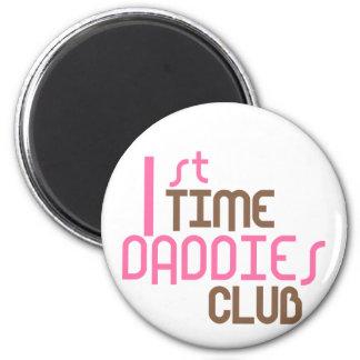 1st Time Daddies Club (Pink) 6 Cm Round Magnet