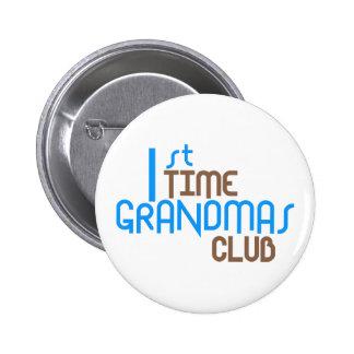 1st Time Grandmas Club (Blue) Pins