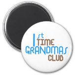 1st Time Grandmas Club (Blue) Fridge Magnet