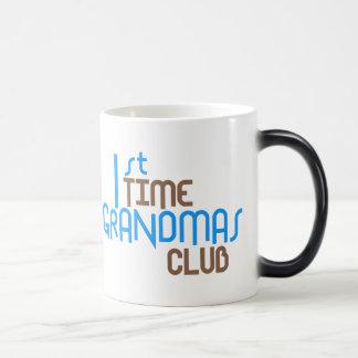 1st Time Grandmas Club (Blue) Morphing Mug
