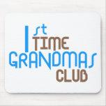 1st Time Grandmas Club (Blue) Mouse Mat
