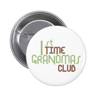 1st Time Grandmas Club (Green) Pinback Buttons