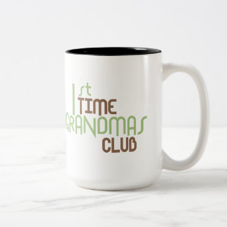 1st Time Grandmas Club Green Coffee Mugs