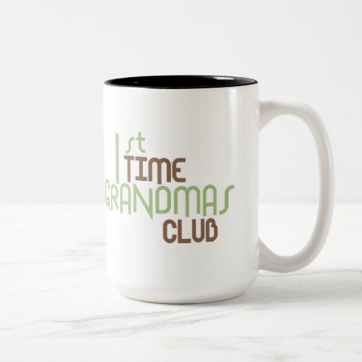 1st Time Grandmas Club (Green) Coffee Mugs