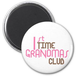 1st Time Grandmas Club (Pink) Fridge Magnet