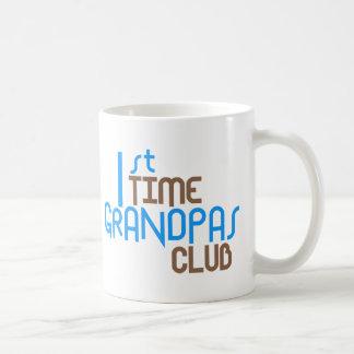 1st Time Grandpas Club (Blue) Basic White Mug