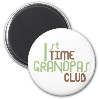 1st Time Grandpas Club (Green) Fridge Magnet